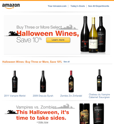 Amazon Wine Halloween Promo