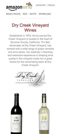 Amazon Wines - Dry Creek